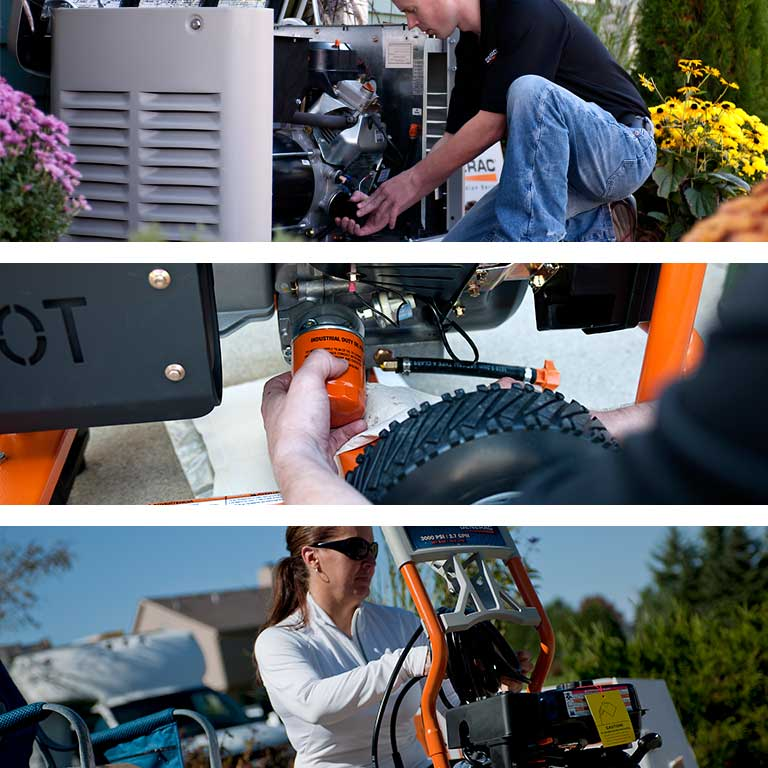 Tri-image of Generac Service Support
